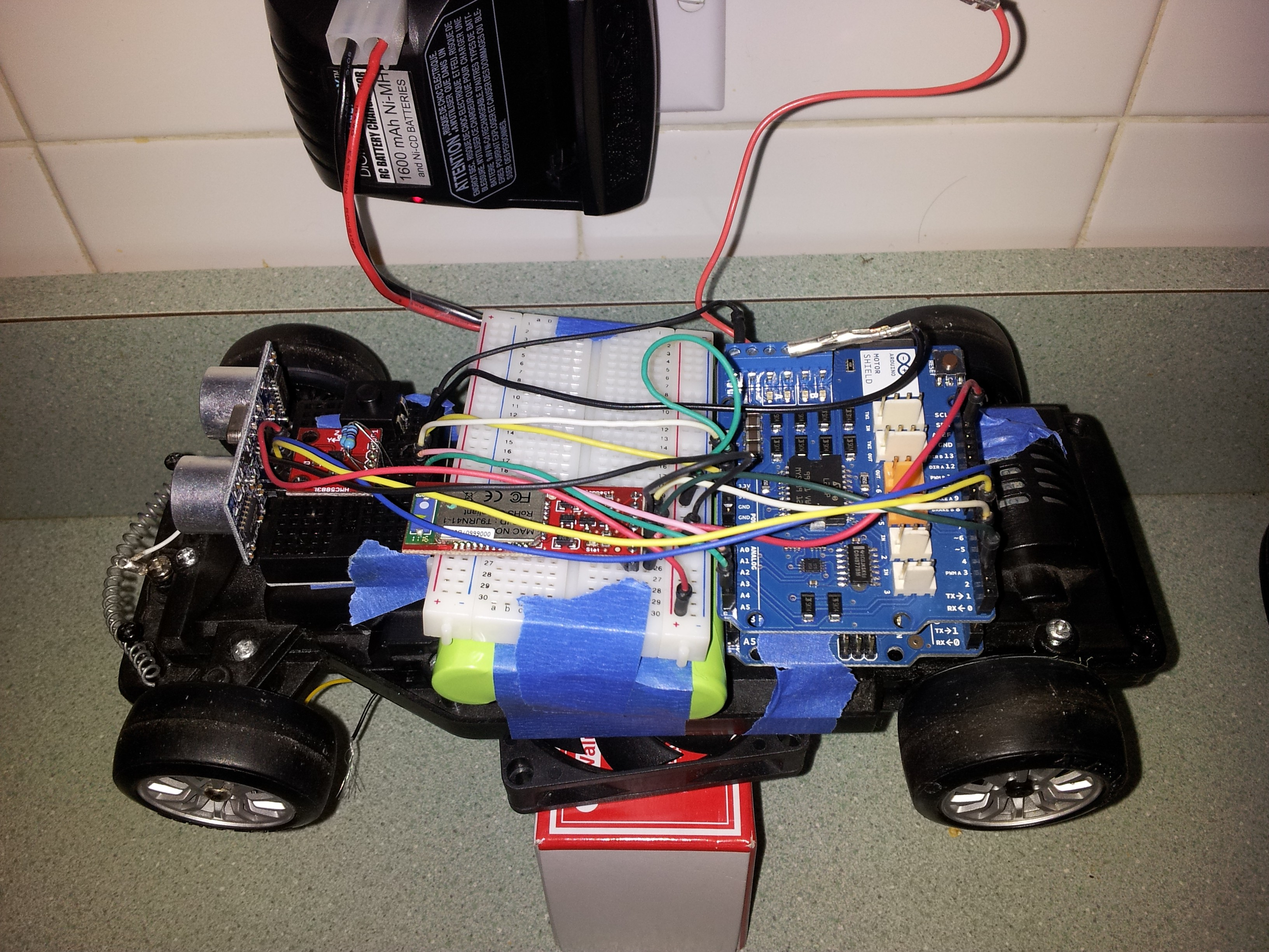 Arduino self driving car gets bluetooth python interface