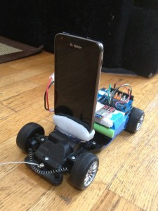 Self Driving Car with Android Mount