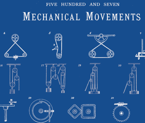 The easy way to convert a black white drawing to blueprint in 507 mechanical movements blueprint malvernweather Choice Image